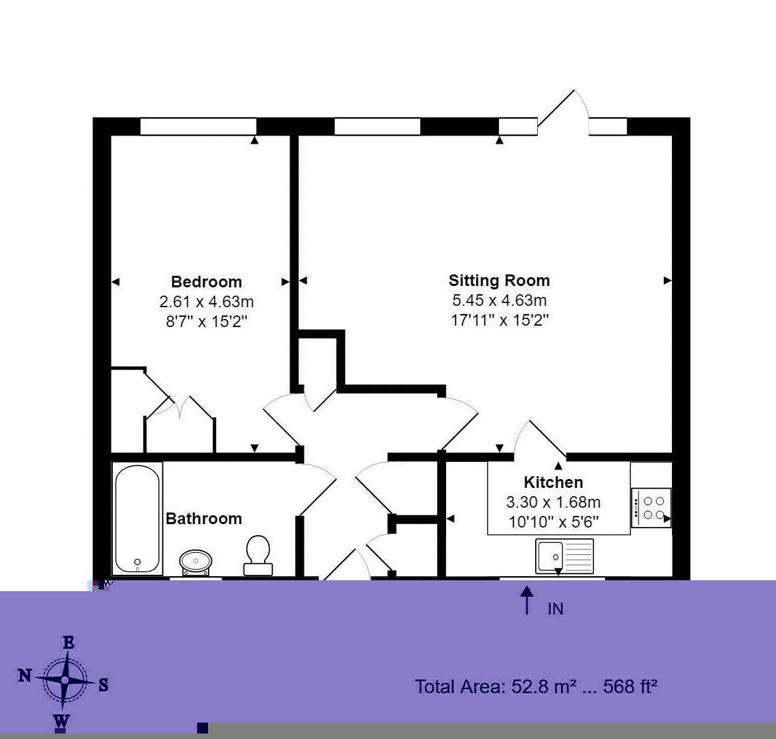 1 bed  for sale in Station Road - Property Floorplan
