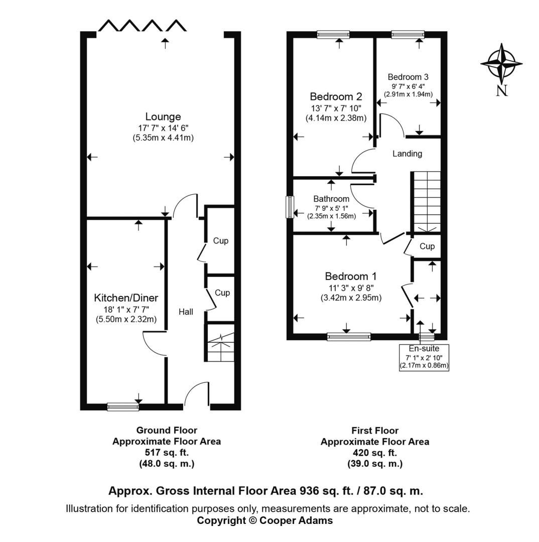 3 bed house to rent in Beechlands Close - Property Floorplan