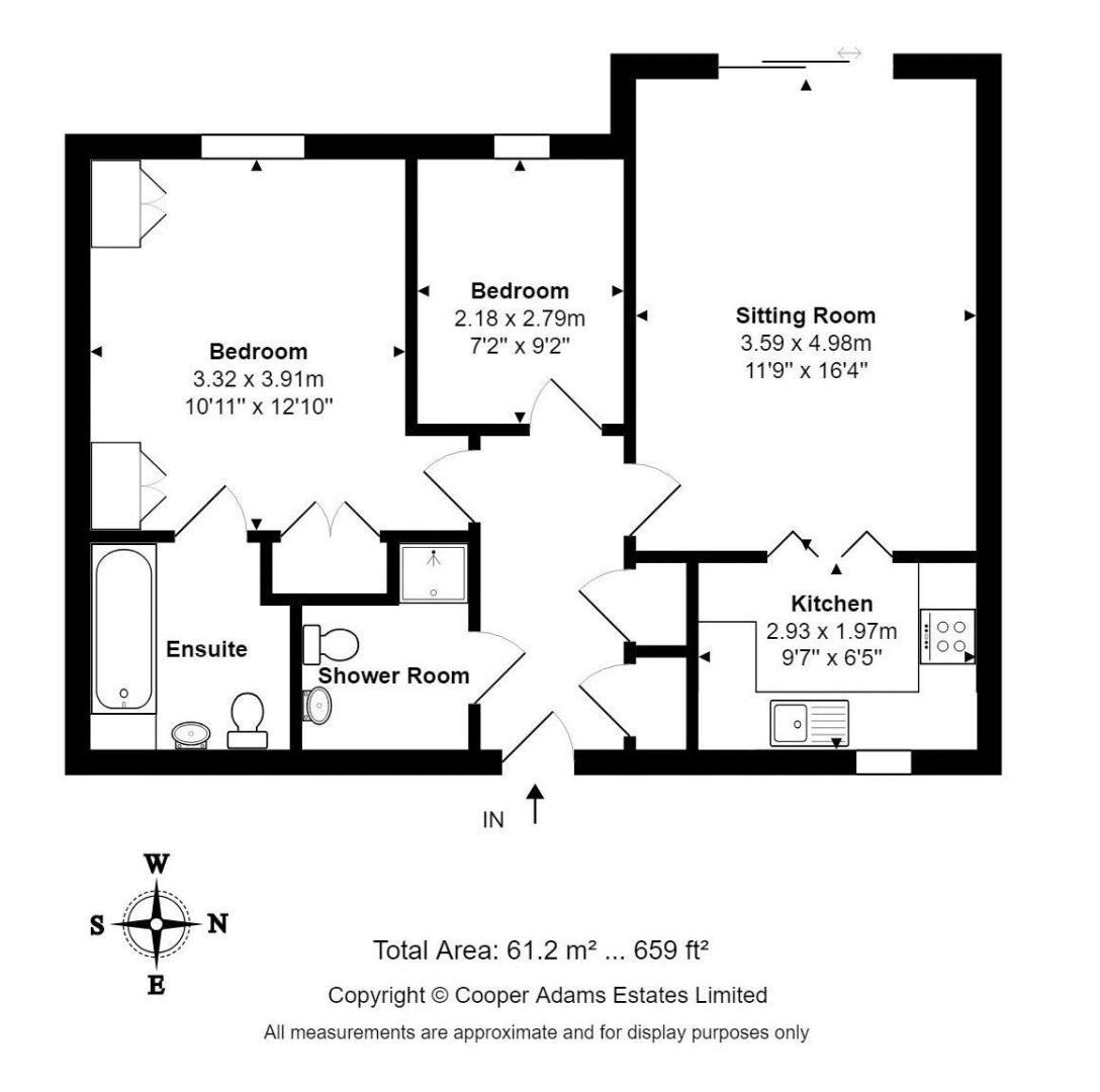 2 bed Apartment for sale in East Preston - Property Floorplan