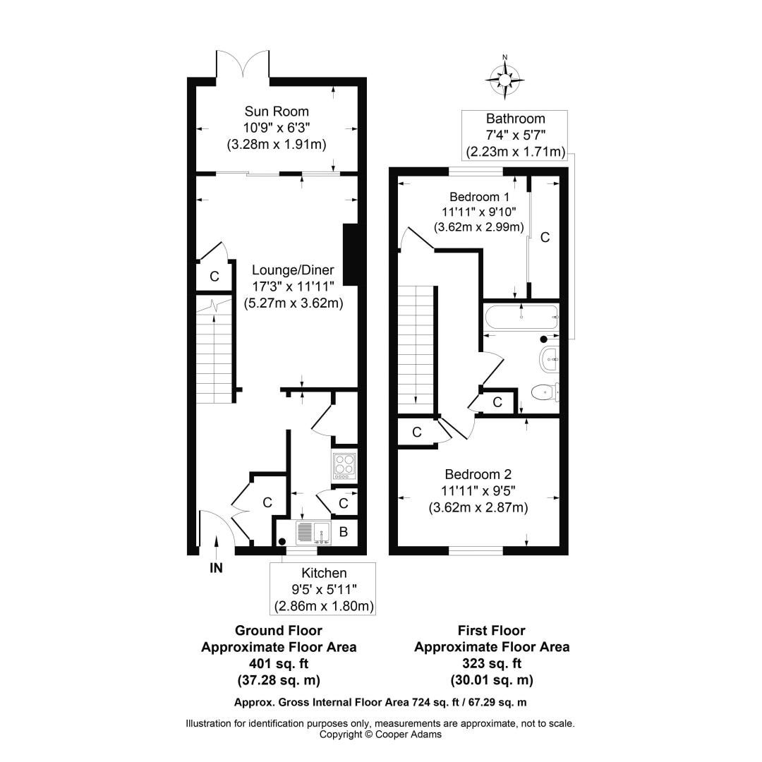 2 bed house for sale in Church Way COMP Jan 2019 - Property Floorplan