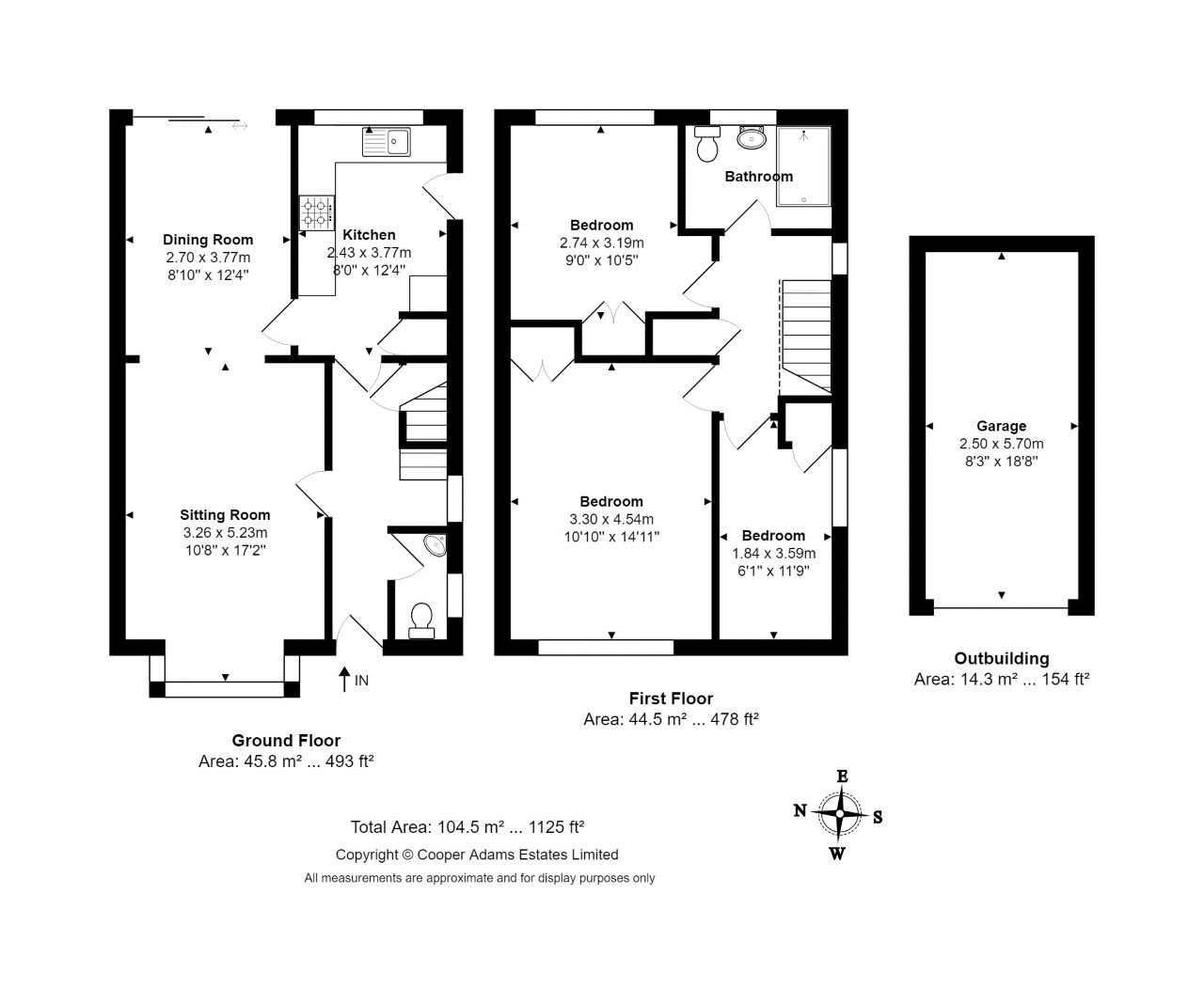3 bed house for sale in Copse View - Property Floorplan