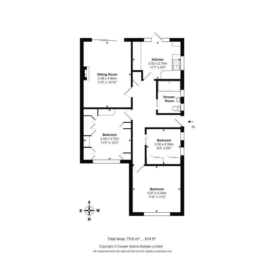 3 bed bungalow for sale in Melrose Close - Property Floorplan