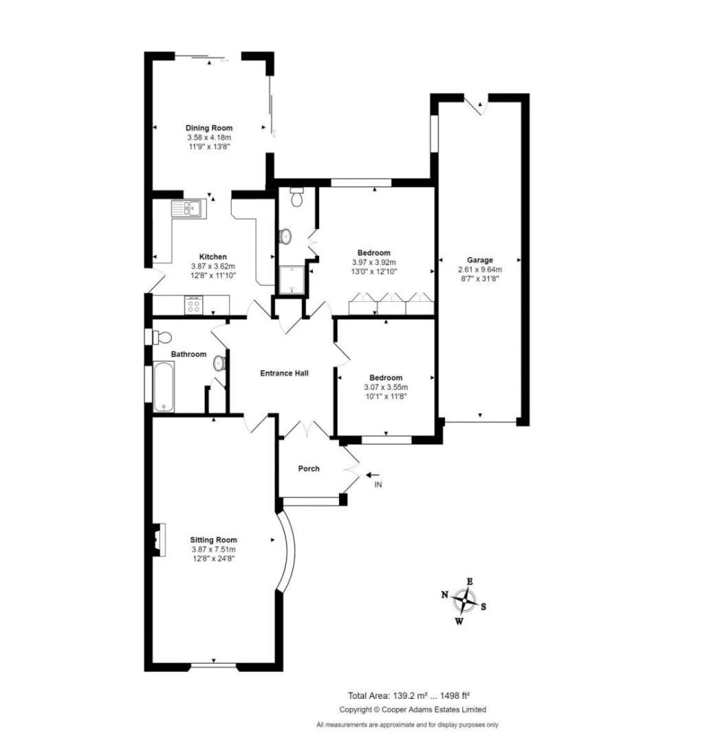 2 bed bungalow for sale in Banstead Close - Property Floorplan