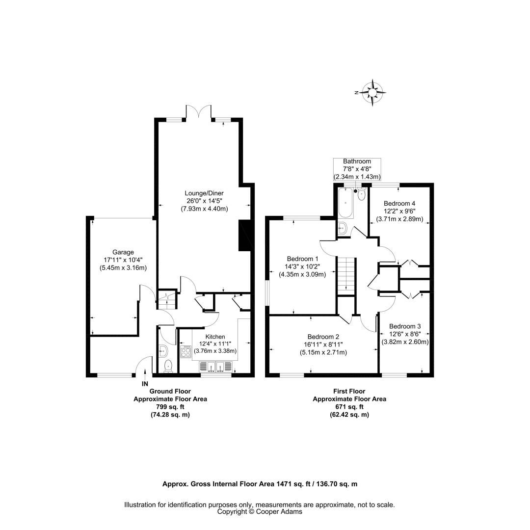 4 bed house for sale in Bellview Road - Property Floorplan
