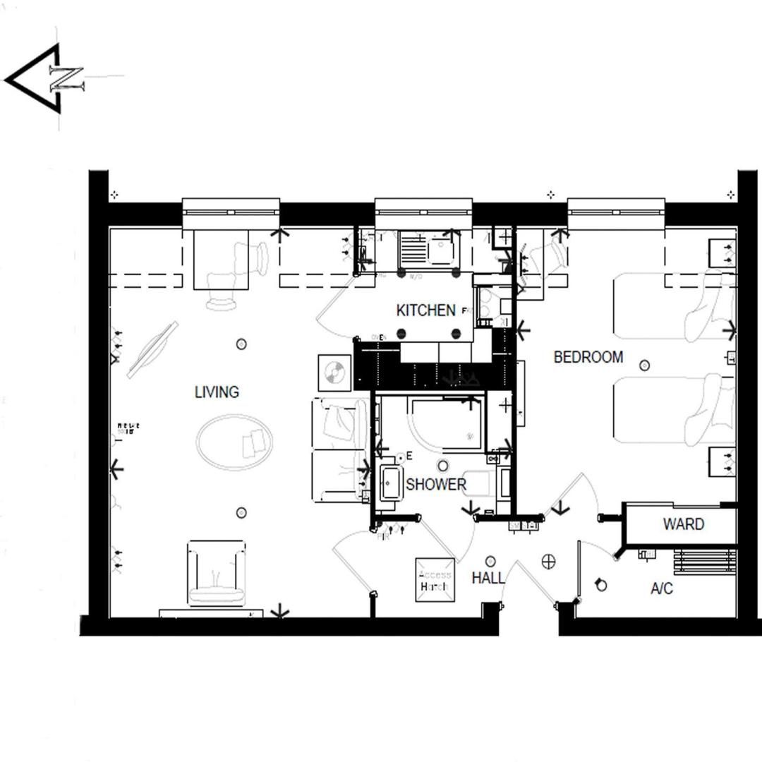 1 bed  for sale in Fitzalan Road - Property Floorplan