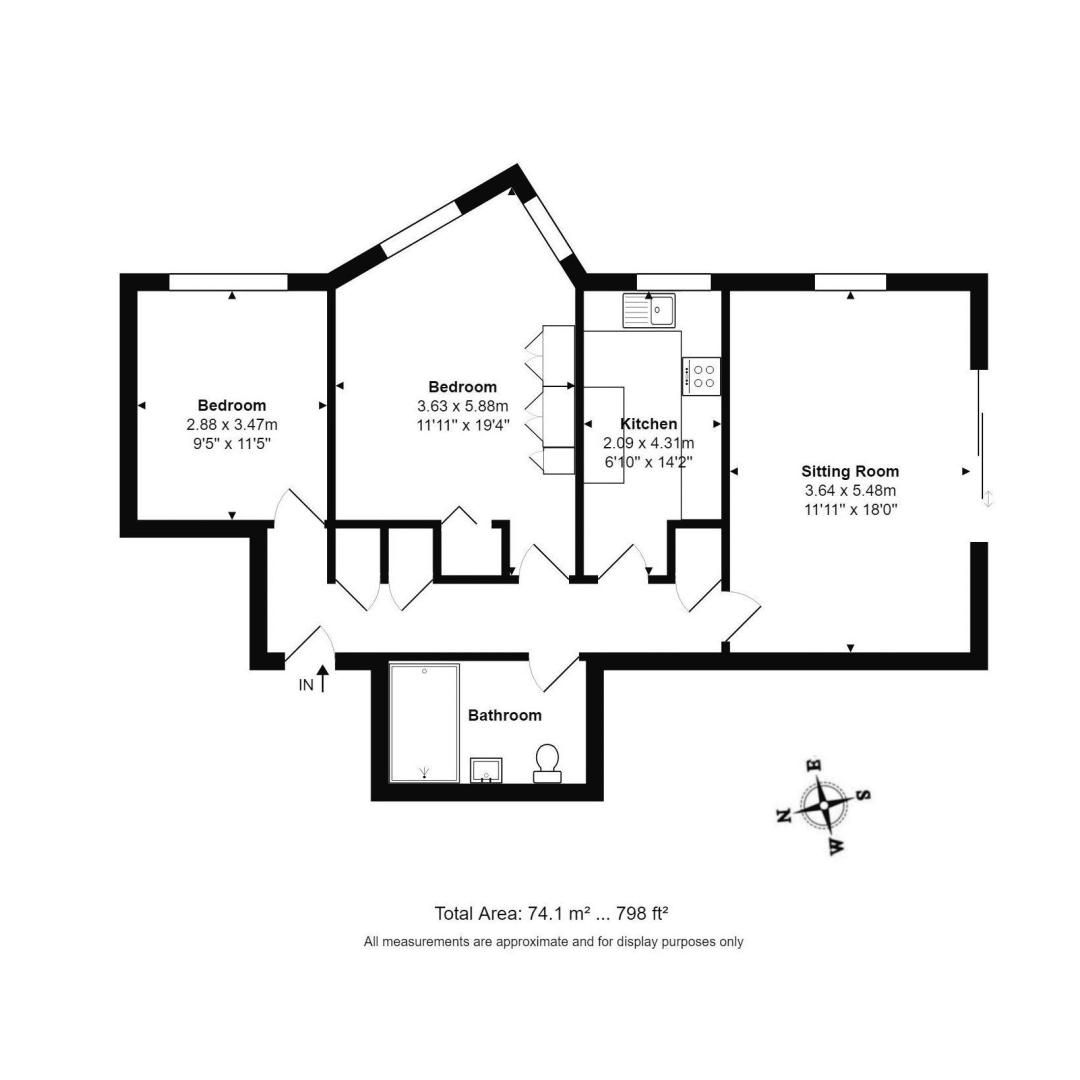 2 bed Apartment for sale in Rustington - Property Floorplan