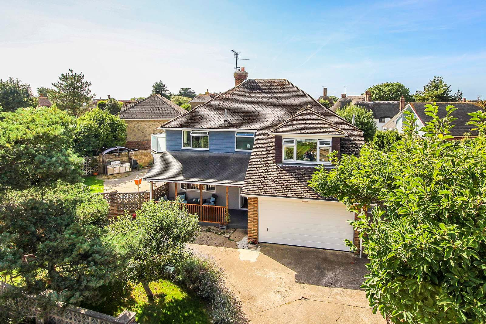 4 bed House for sale in Rustington - Elevated front (Property Image 0)