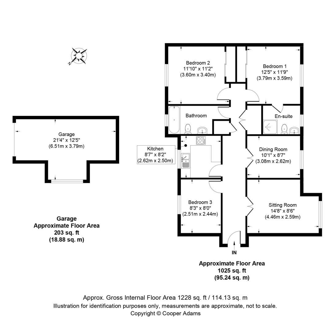 3 bed  for sale in Cleeves Way - Property Floorplan