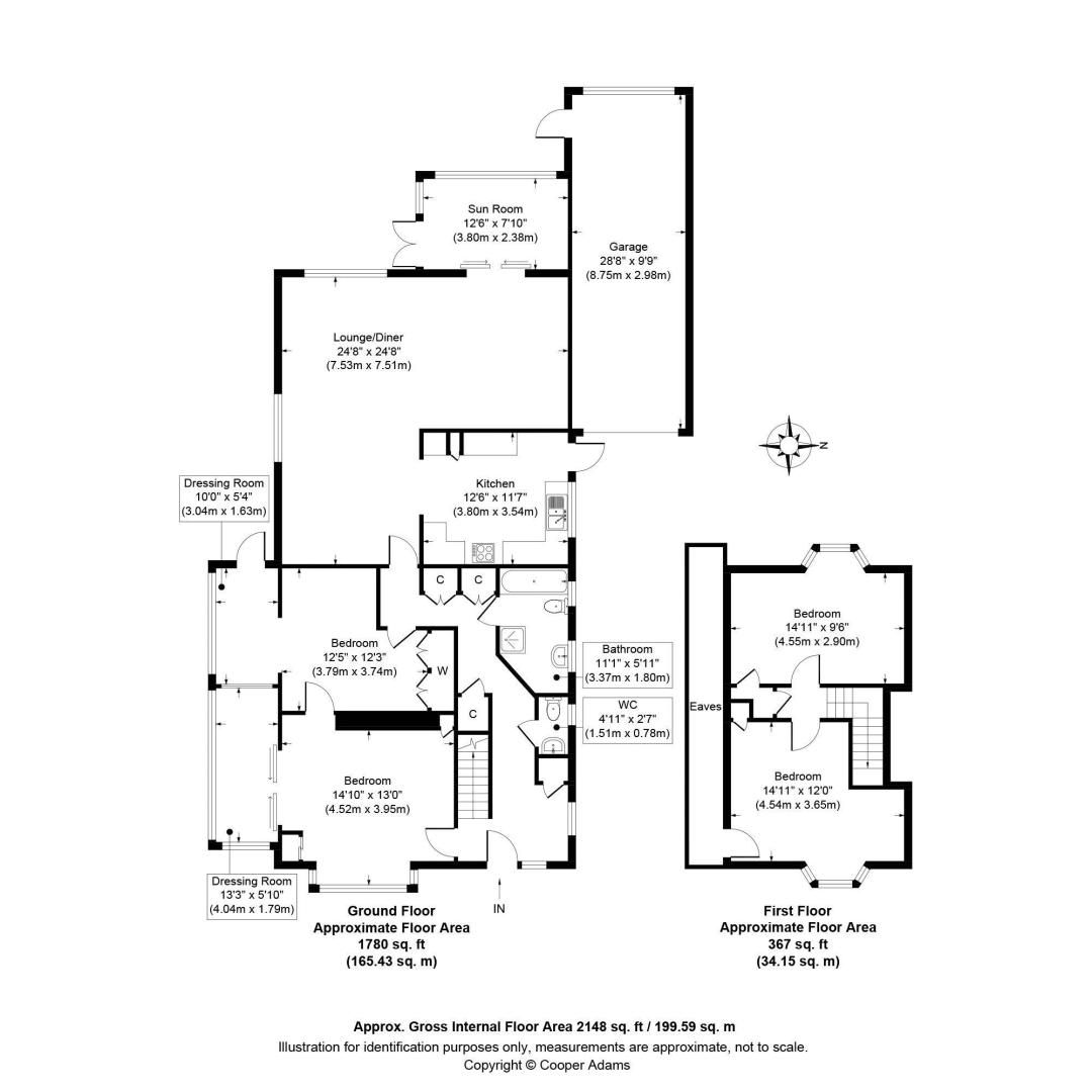 4 bed house for sale in The Bramblings - Property Floorplan