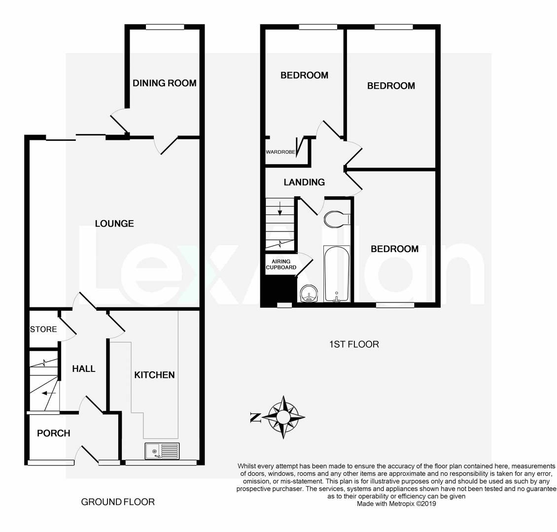 3 bed semi-detached for sale in Kinver - Property Floorplan