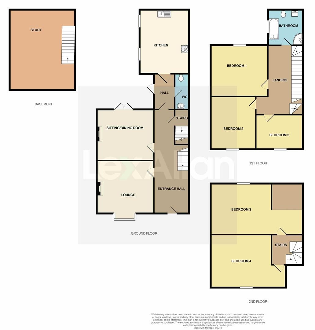 5 bed semi-detached for sale - Property Floorplan