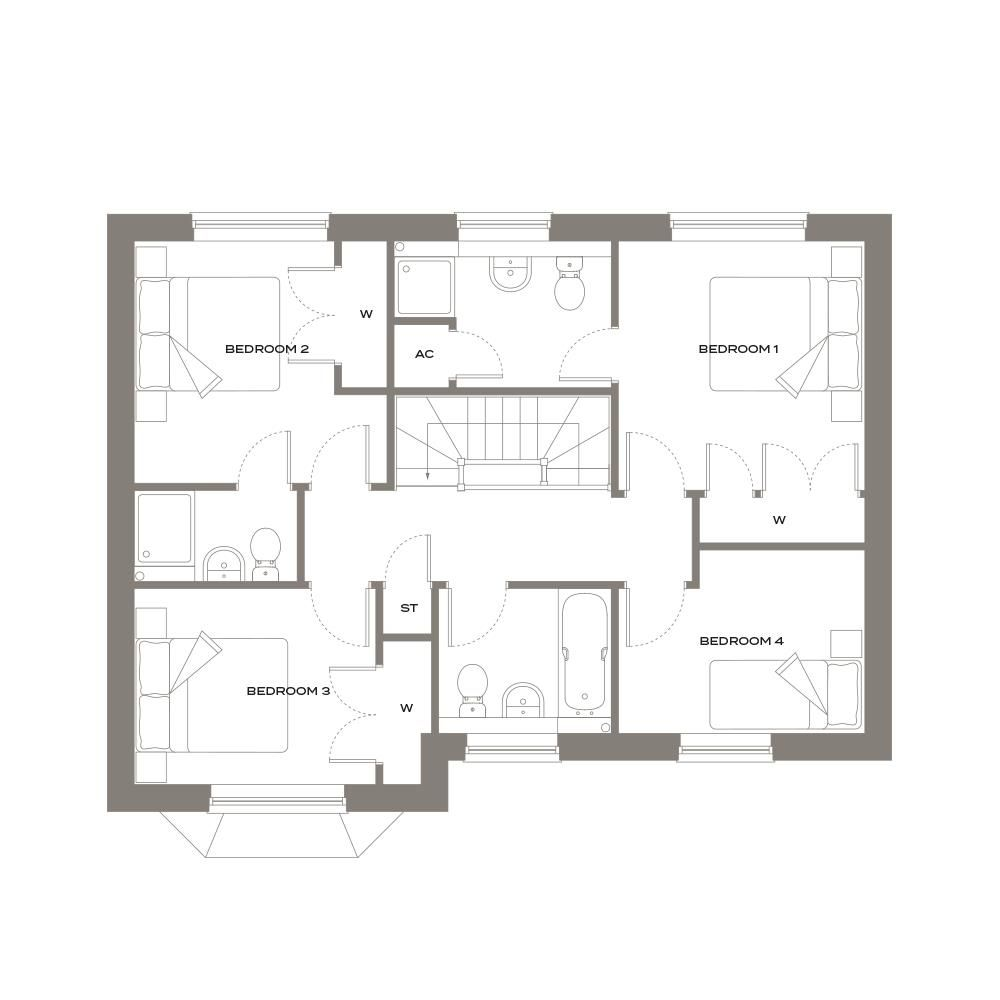 4 bed detached for sale in Glebe Fields - Property Floorplan
