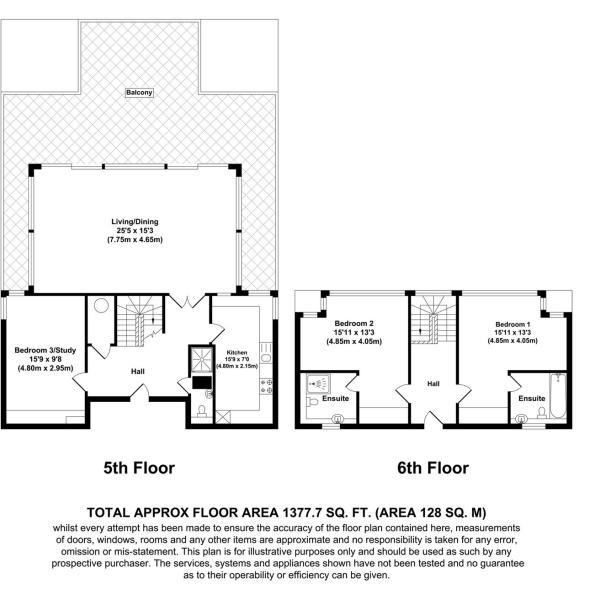 3 bed flat for sale in Barrier Point - Property Floorplan