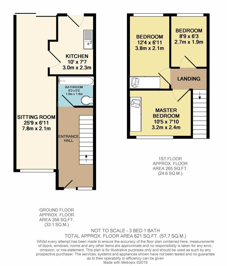 3 bed  to rent in Westgate Close - Property Floorplan