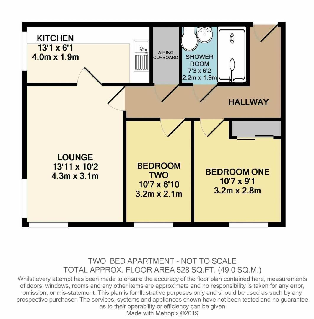 2 bed  for sale in High Street - Property Floorplan