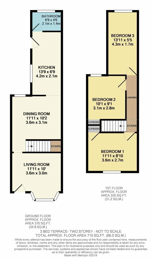 3 bed house for sale in Jezreels Road - Property Floorplan