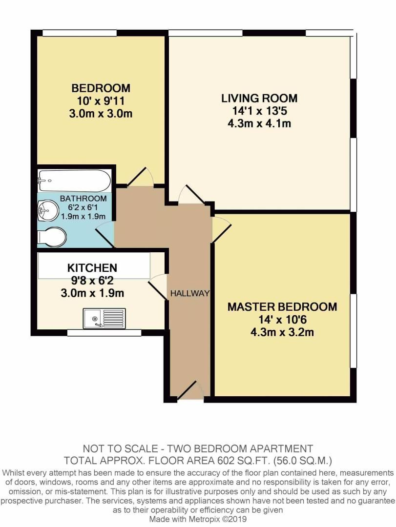 2 bed flat for sale in High Street - Property Floorplan
