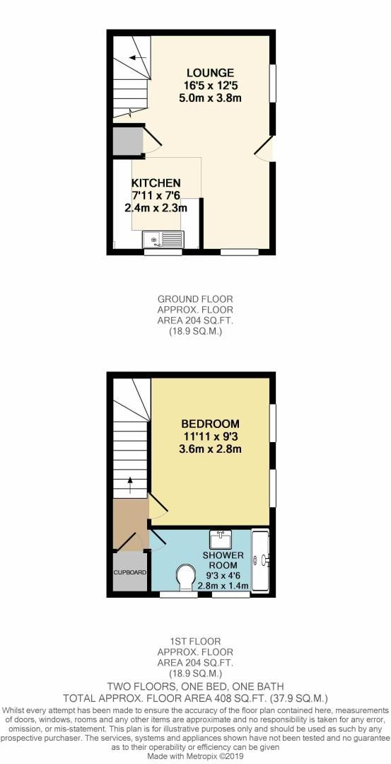 1 bed house for sale in Galleon Close - Property Floorplan
