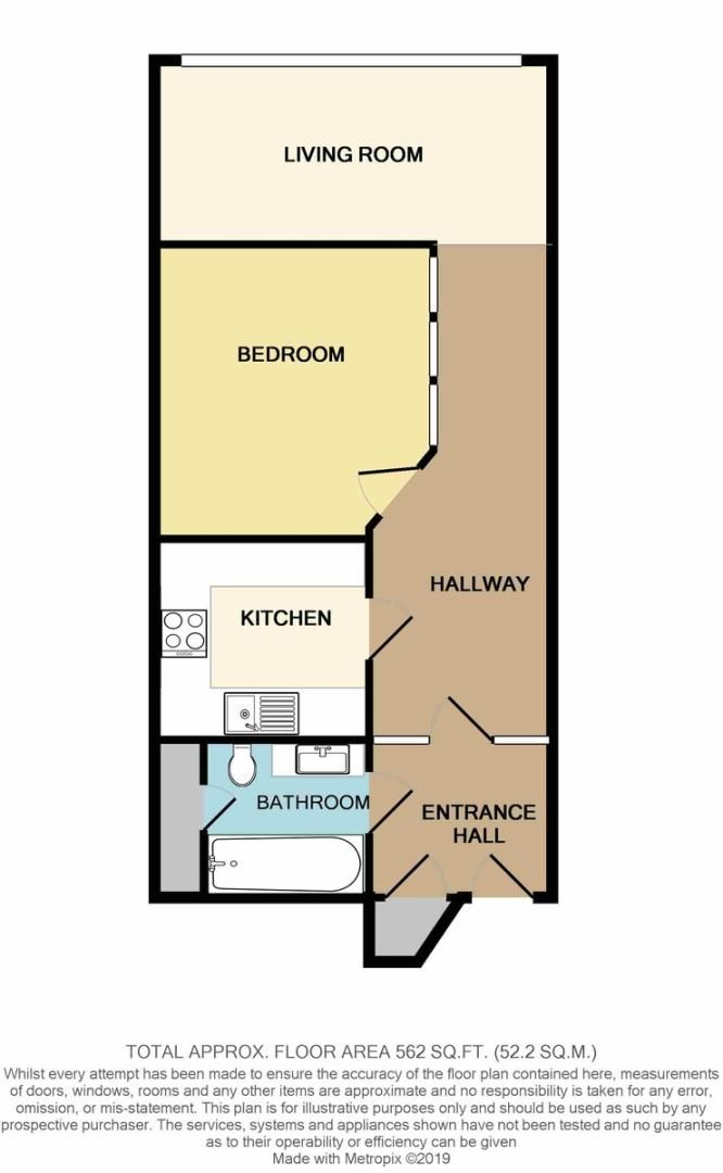 1 bed Flat to rent on Fore Street, Exeter - Property Floorplan