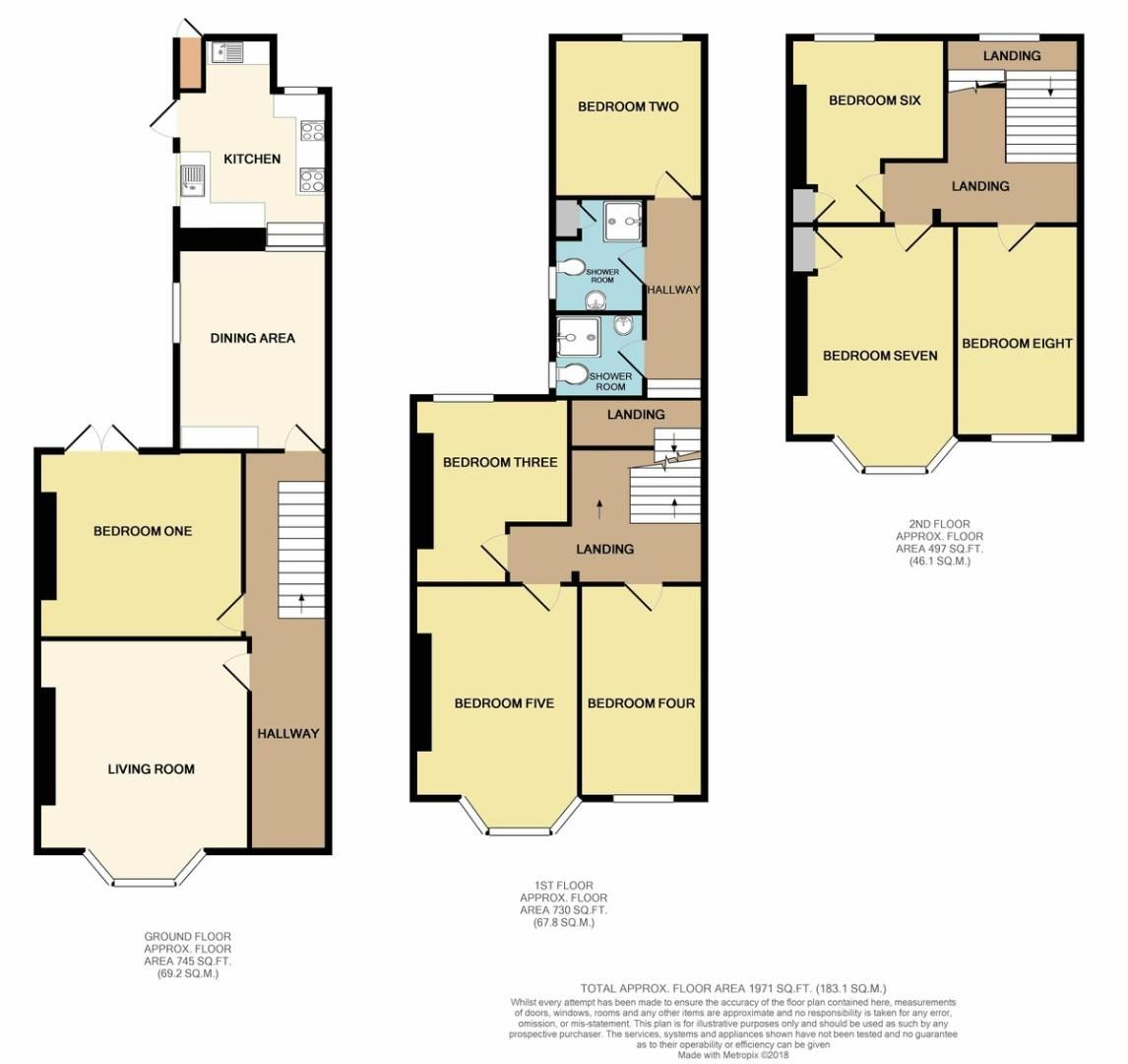 8 bed House for sale on Blackall Road - Property Floorplan