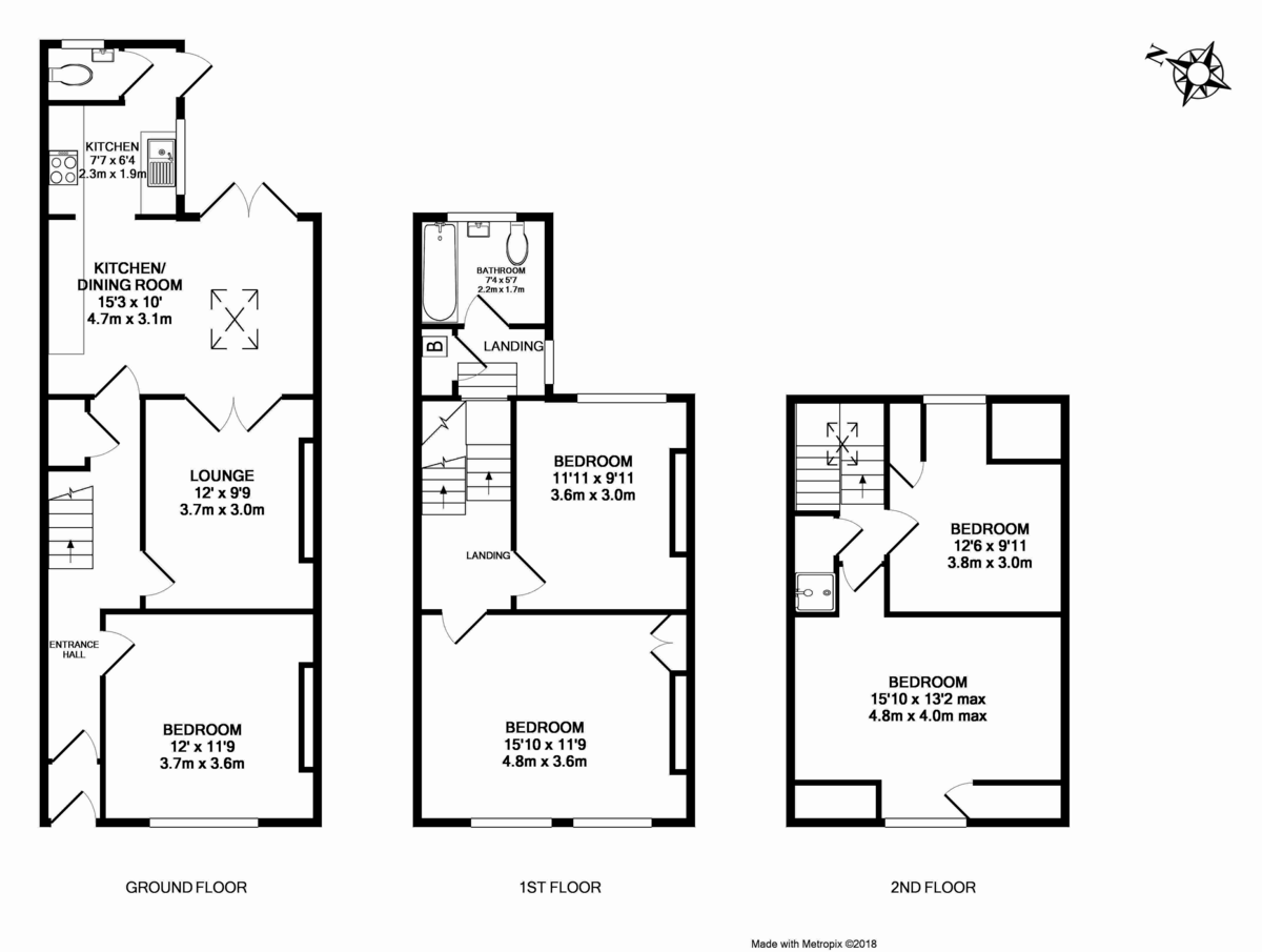 5 bed House for sale on Victoria Street - Property Floorplan