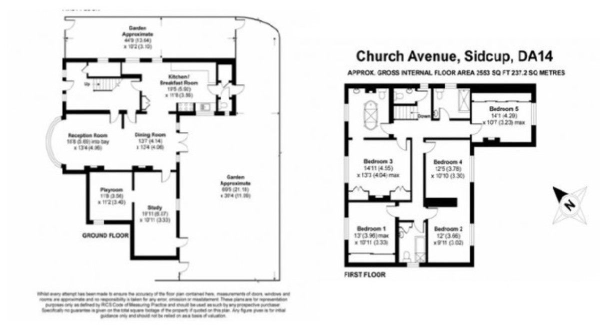 5 bed House for sale in Church Avenue, Sidcup, DA14 - Property Floorplan