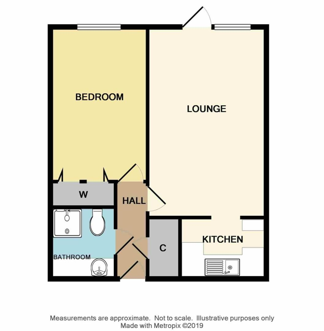 1 bed Flat for sale in Lansdown Road, Sidcup, DA14 - Property Floorplan