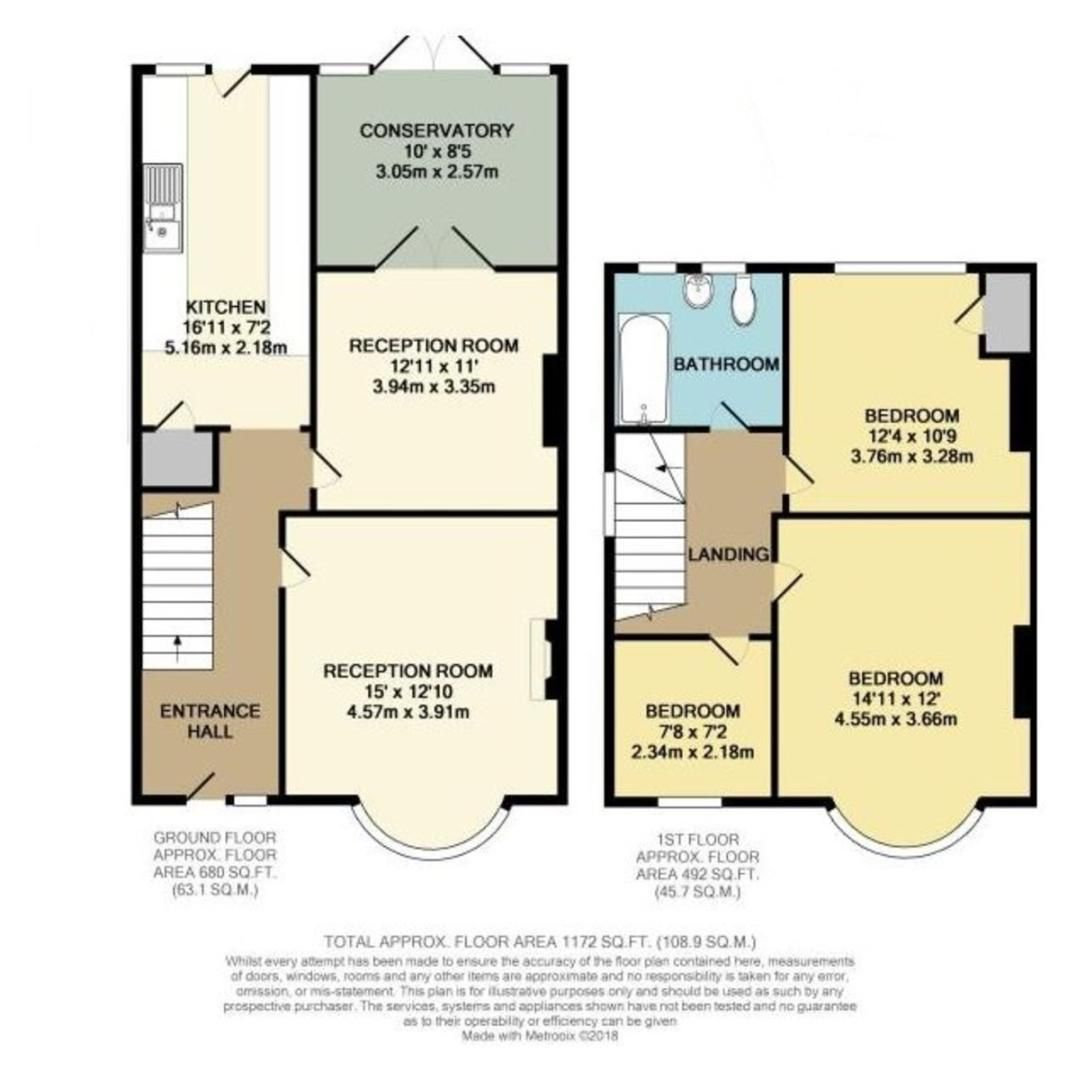 3 bed House for sale in Orchard Road, Sidcup, DA14 - Property Floorplan
