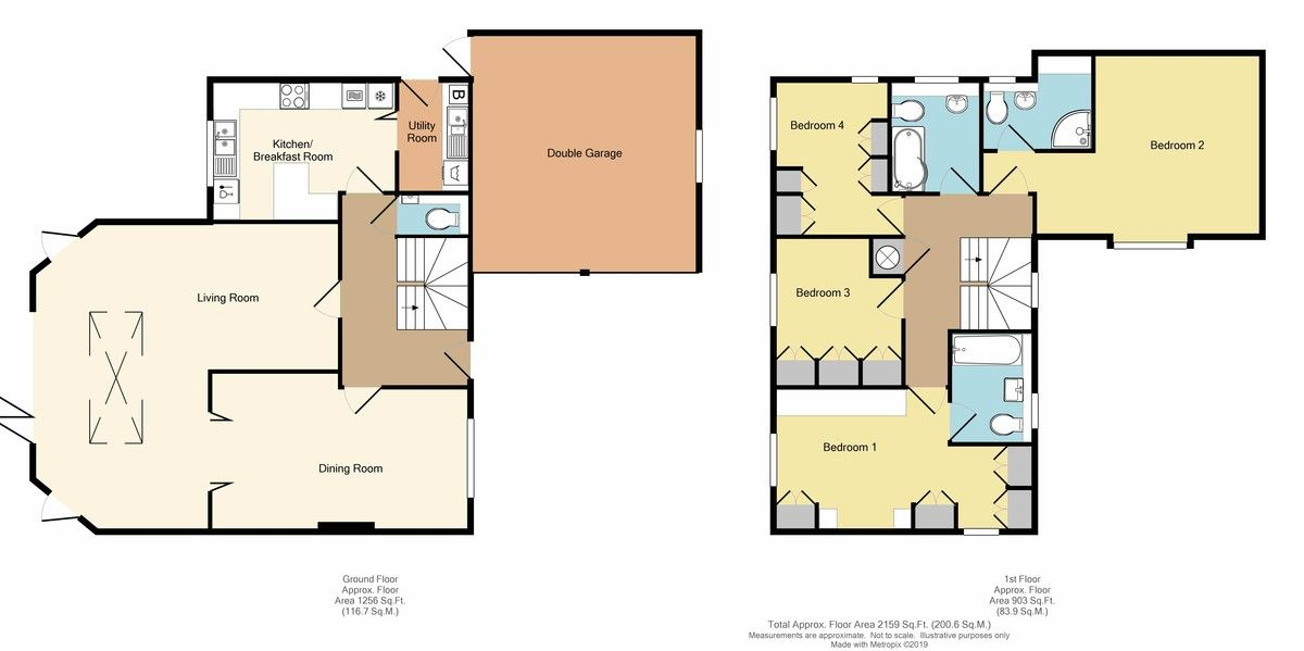4 bed House for sale in Redwood Close, Sidcup, DA15 - Property Floorplan