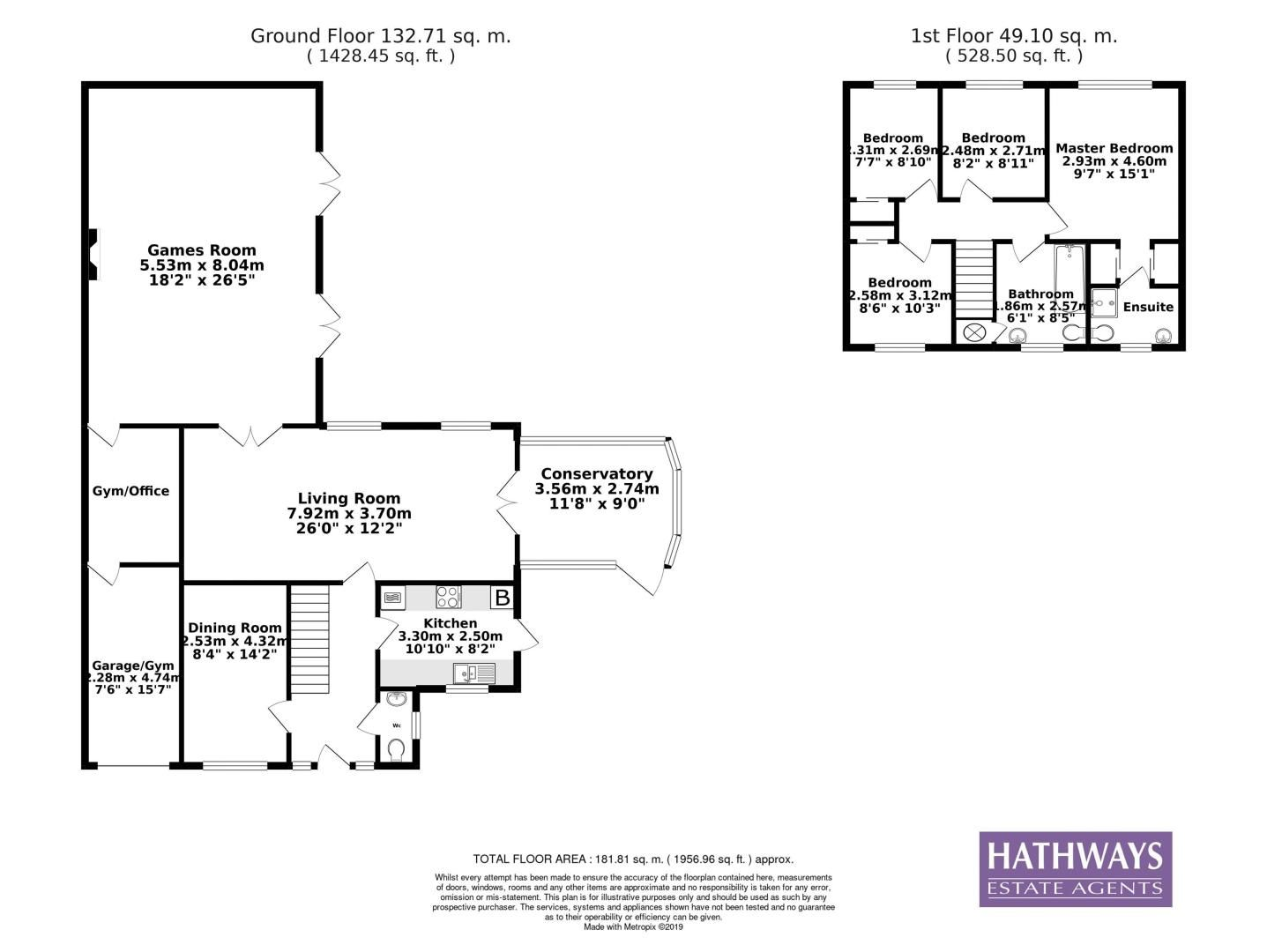 4 bed house for sale in Springfield Close - Property Floorplan