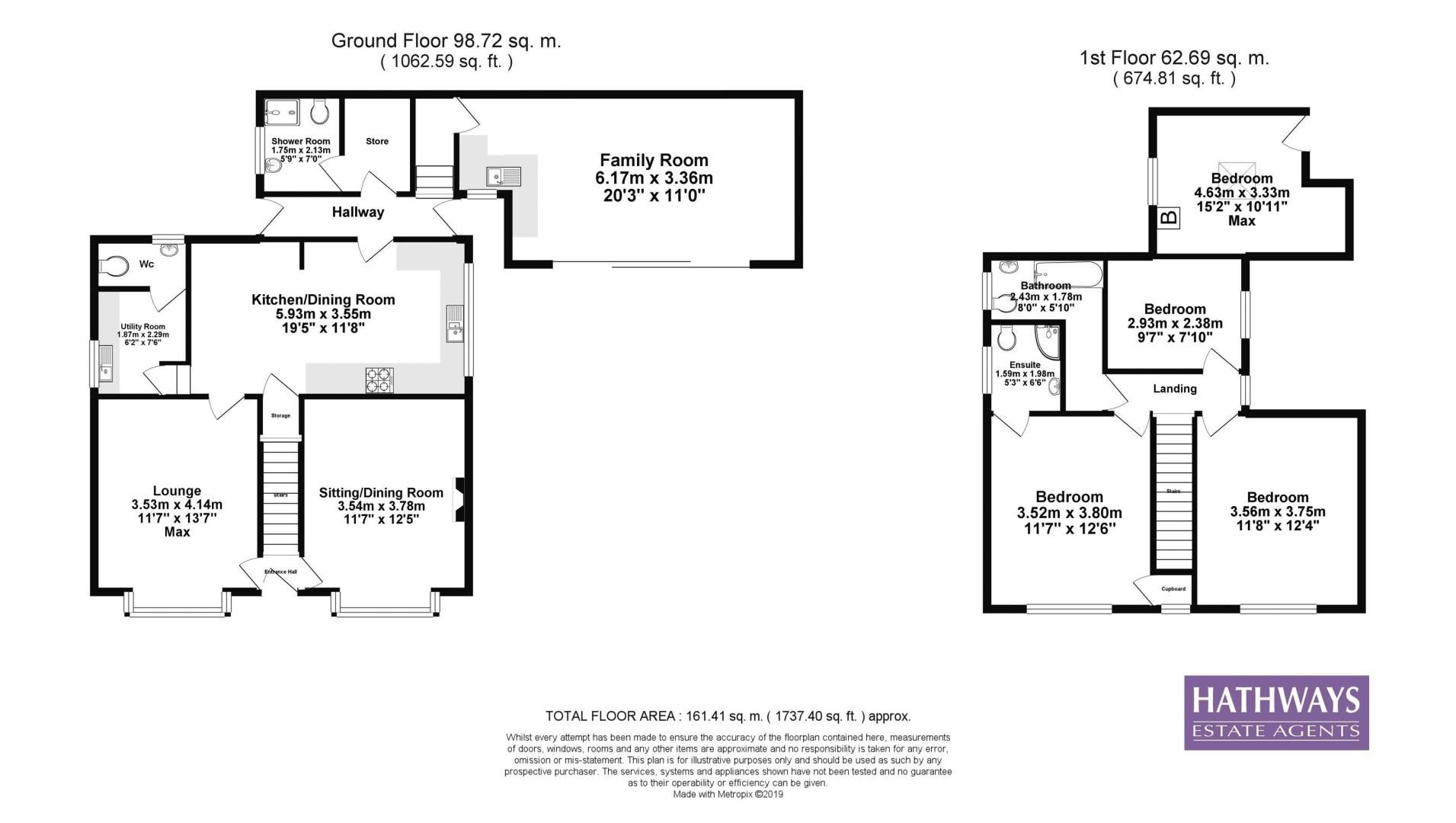 4 bed house for sale in Lower Stoney Road - Property Floorplan