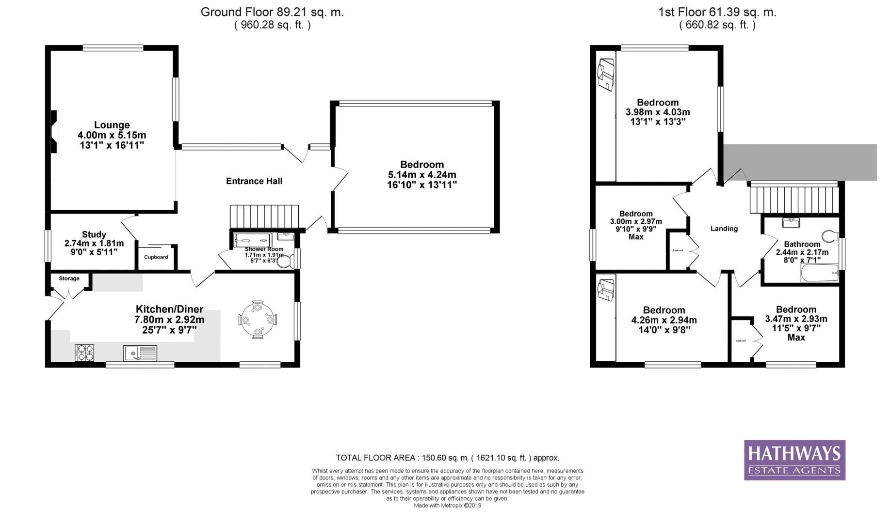 4 bed house for sale in The Alders - Property Floorplan