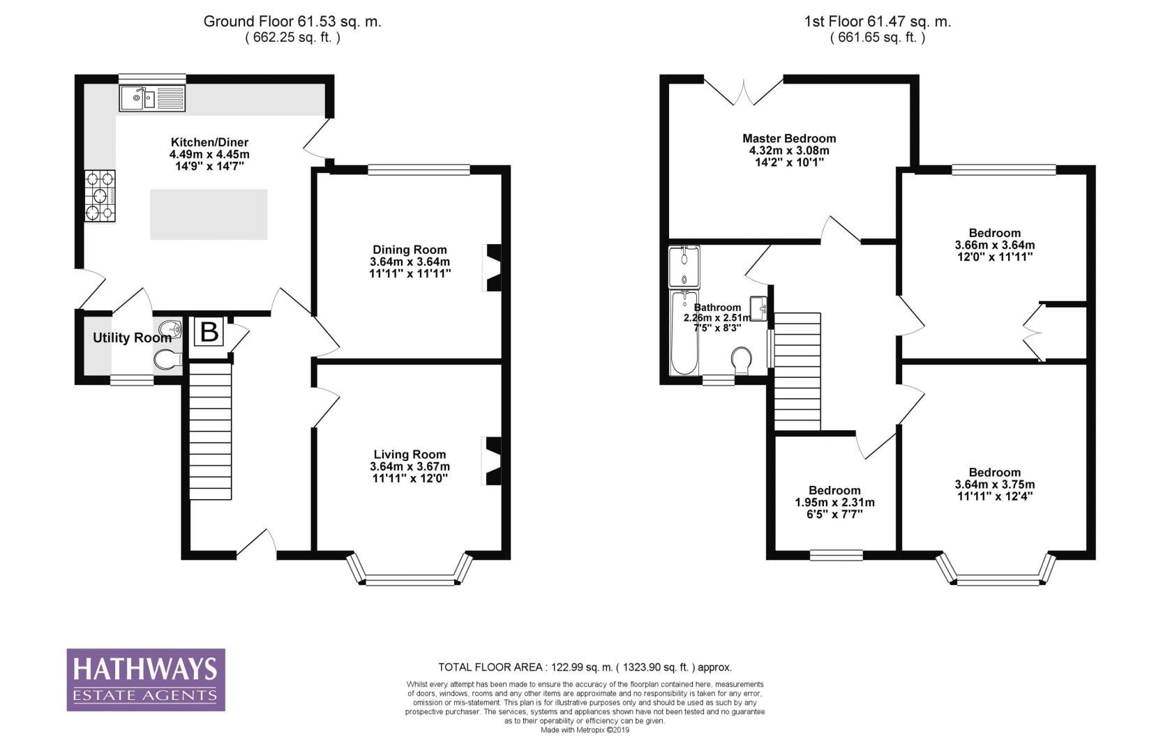4 bed house for sale in Queens Hill Crescent - Property Floorplan