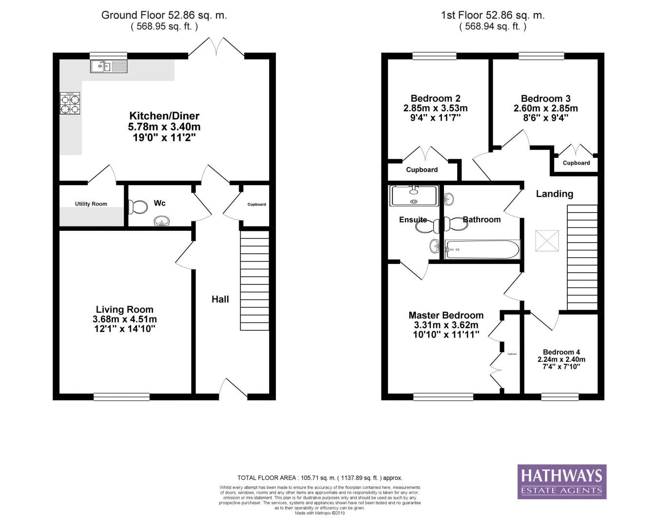 4 bed house for sale in Cwrt Celyn - Property Floorplan