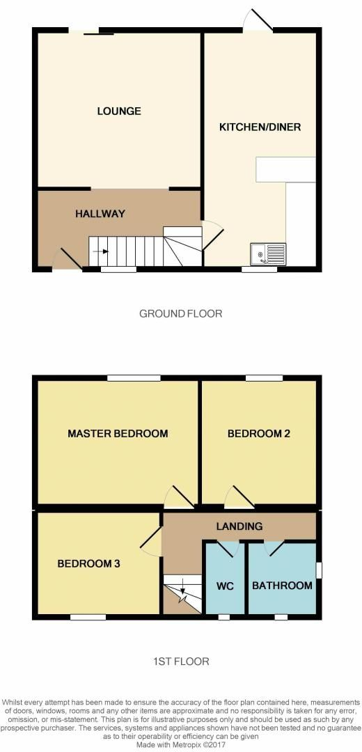 3 bed  for sale in Lancaster Way - Property Floorplan