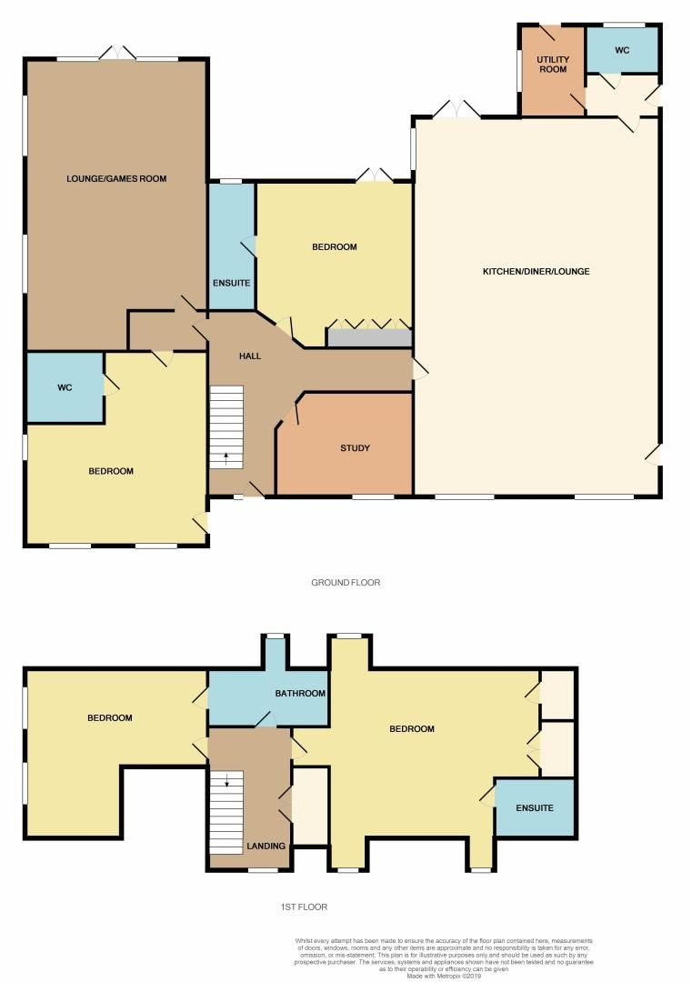 4 bed house for sale in Crowland Road - Property Floorplan