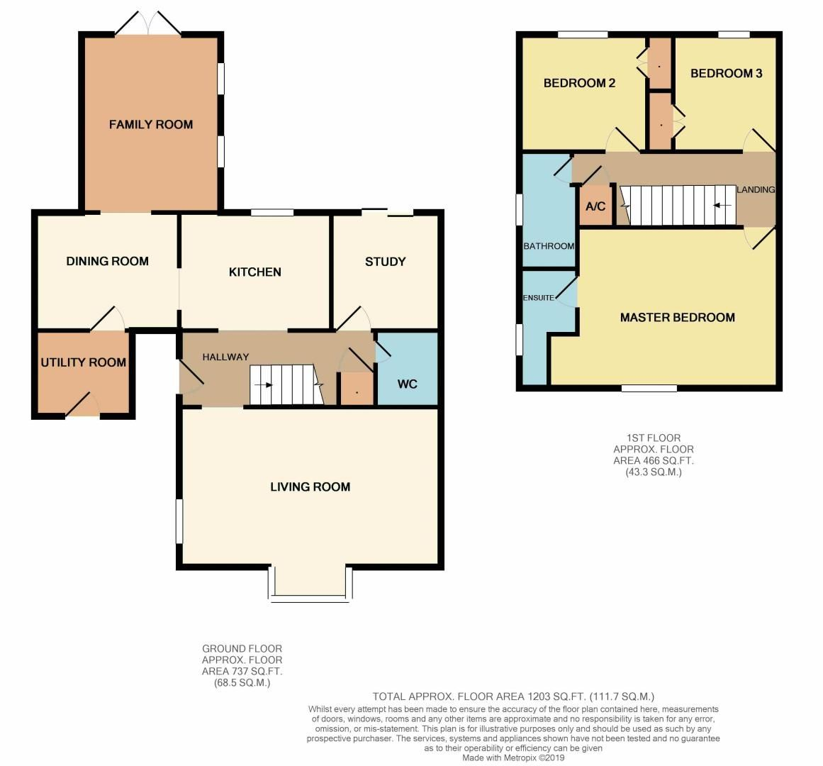 3 bed house for sale in Rothwell Way - Property Floorplan