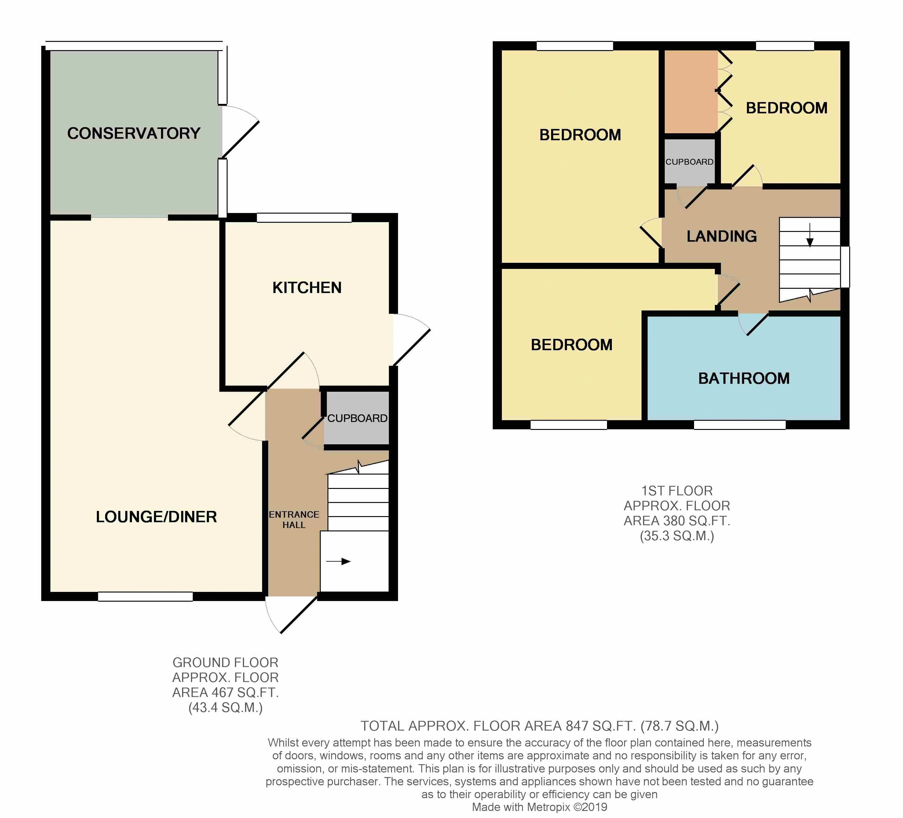 3 bed house for sale in Ferryview - Property Floorplan