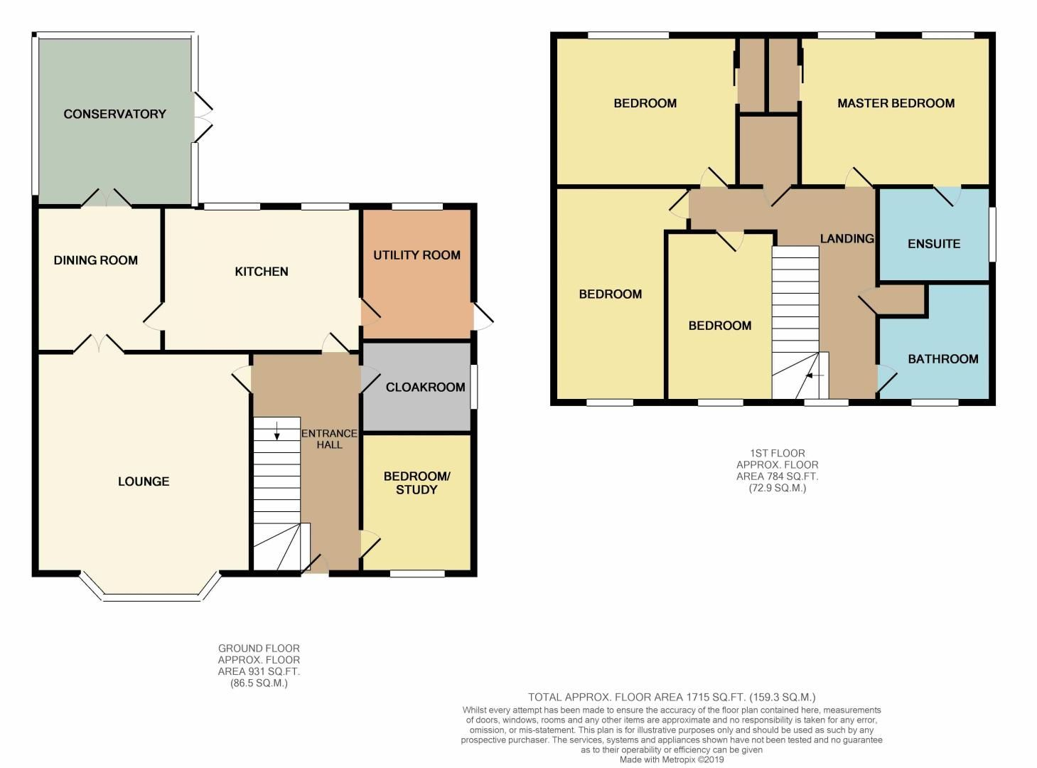5 bed house for sale in Barkston Drive - Property Floorplan