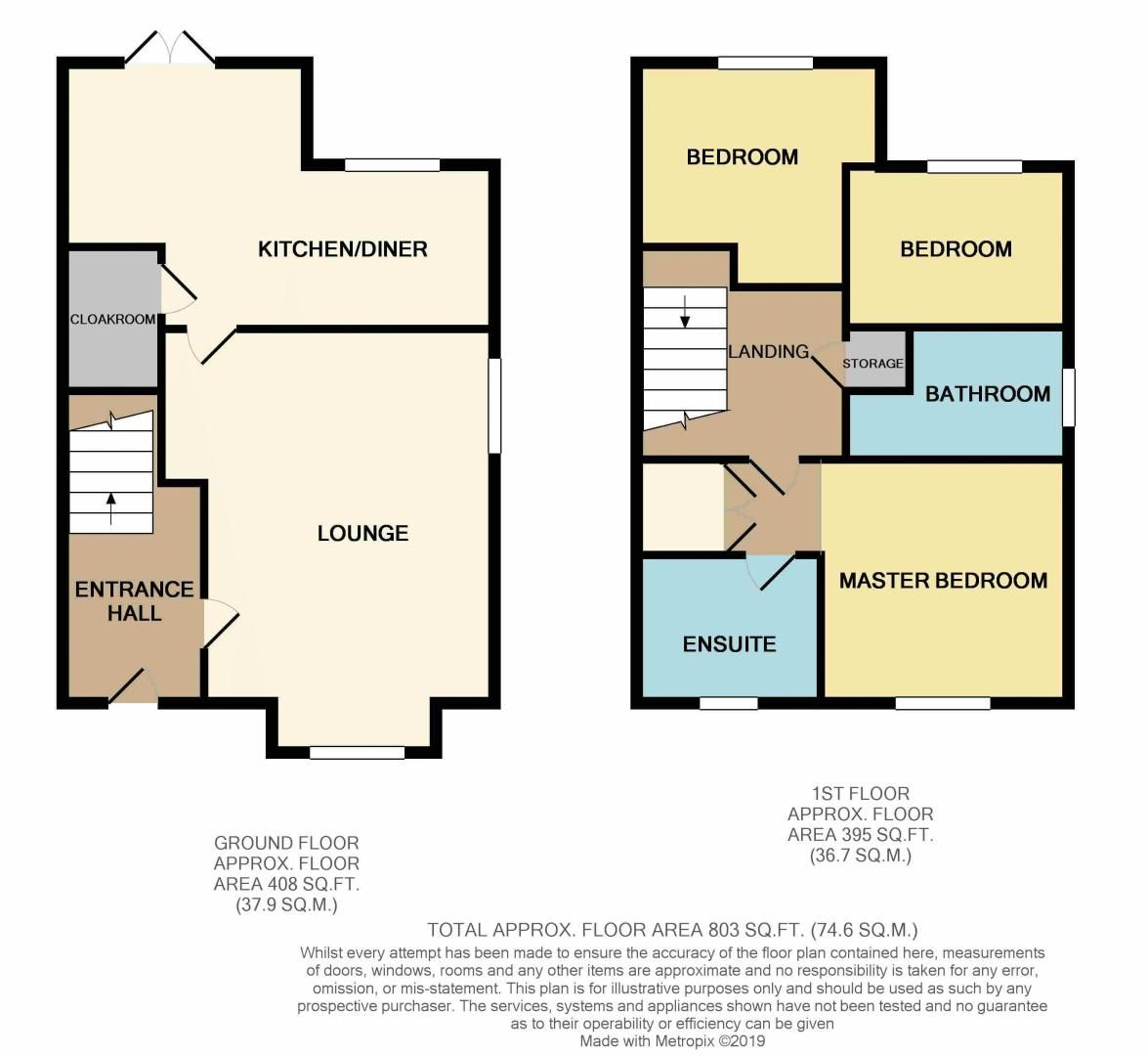 3 bed house for sale in Sandleford Drive - Property Floorplan