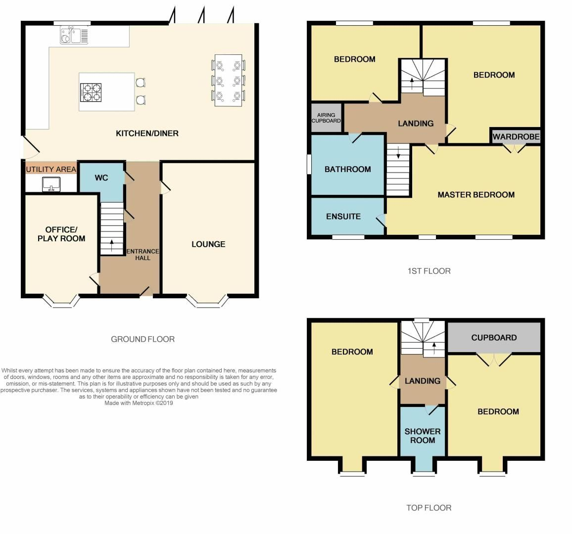 5 bed house for sale in Vokes Street - Property Floorplan