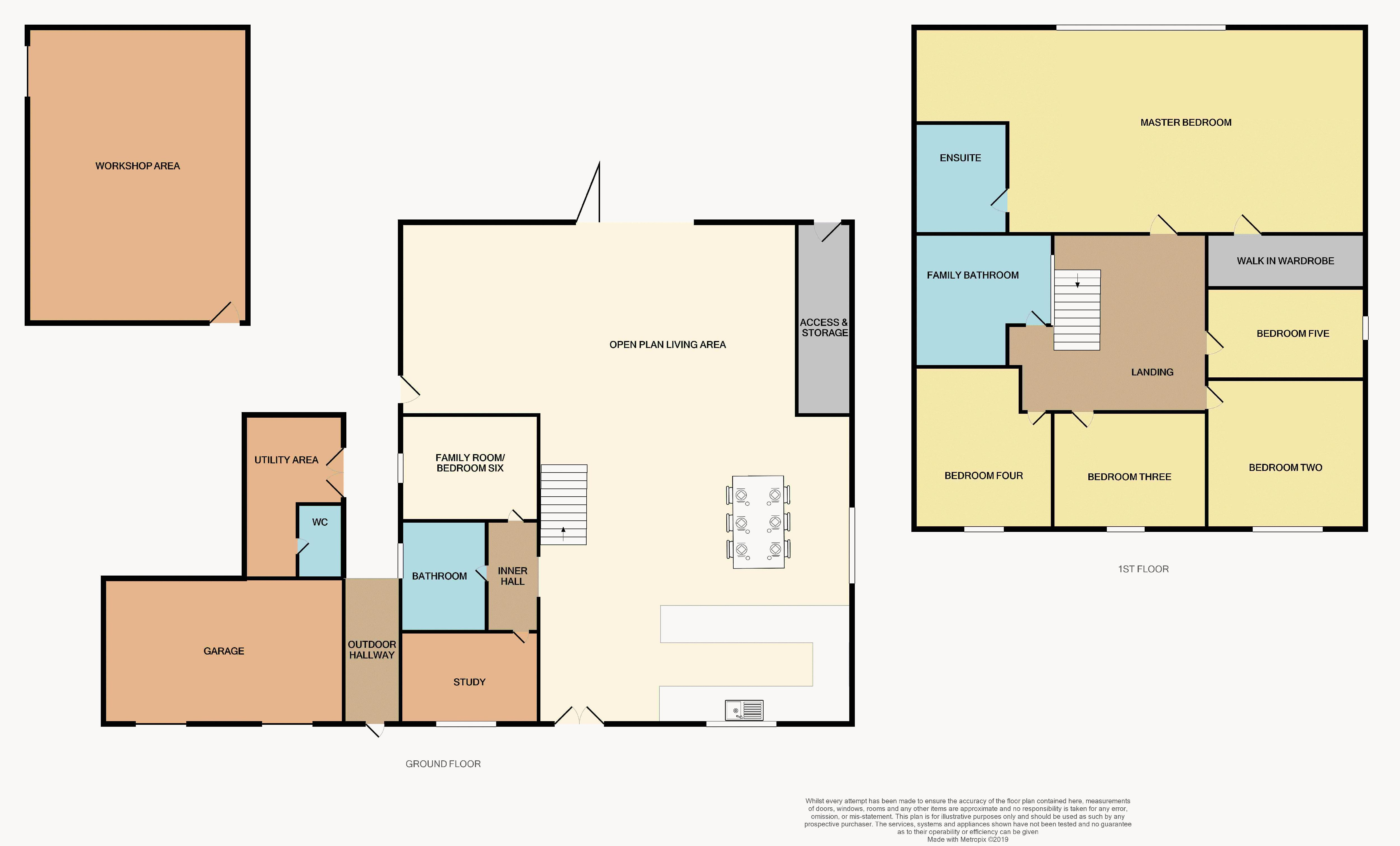 5 bed house for sale in Mount Pleasant - Property Floorplan