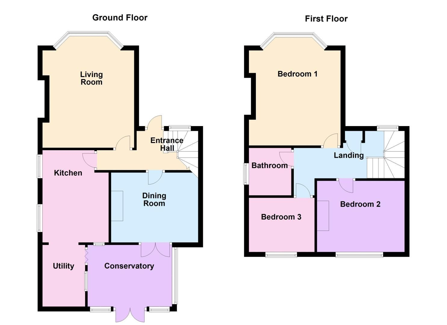 3 bed house for sale in Gordon Avenue - Property Floorplan