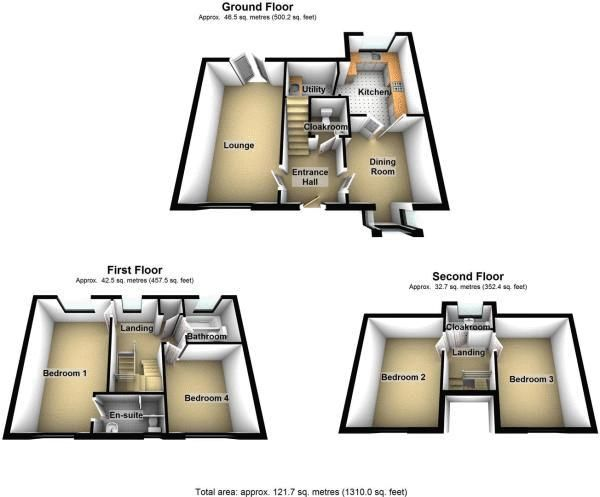 4 bed house for sale in Turnpike Road - Property Floorplan